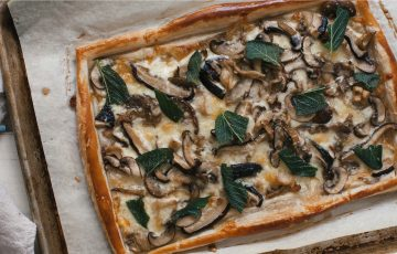 Three-Cheese Mixed Mushroom Tart Recipe