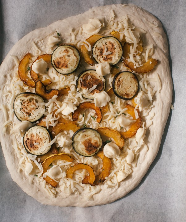 Taste Autumn with Squash Brie and Arugula Pizza