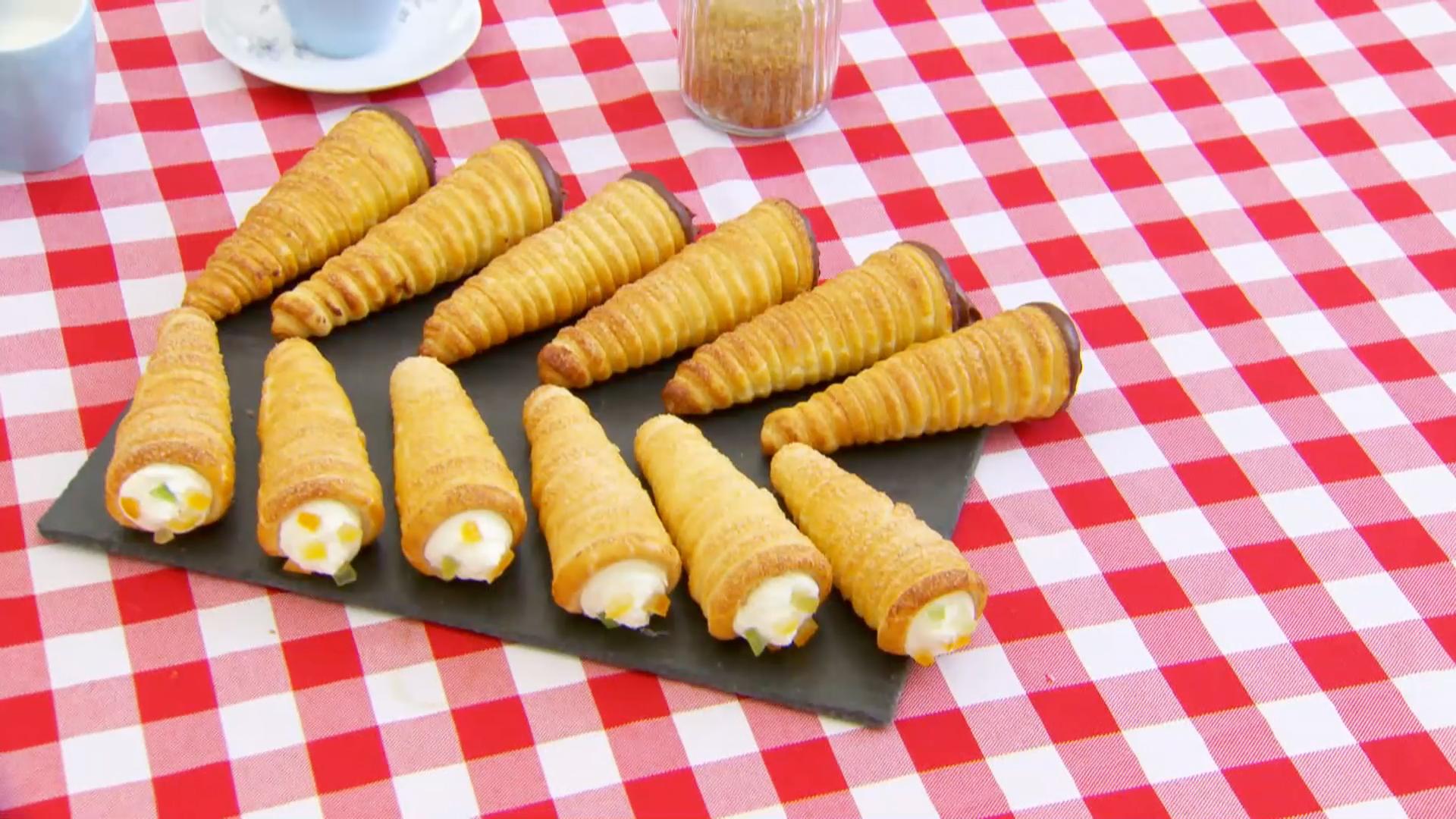 Mocha And Tutti Frutti Cream Horns Recipe Pbs Food
