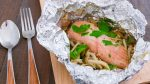 Foiled Wrapped Salmon and Mushrooms with Butter Soy Sauce