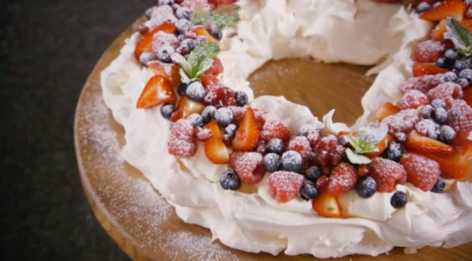 Christmas Pavlova Recipe Pbs Food