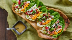 Cobb Salad Lettuce Wrap