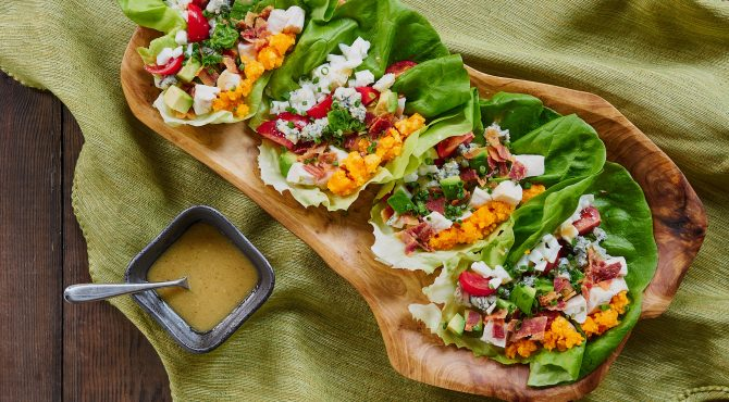 Cobb Salad Lettuce Wrap