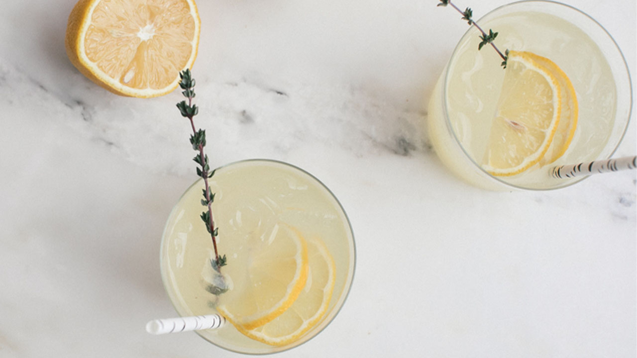 Embrace Spring with a Lemon and Thyme Vodka Spritz