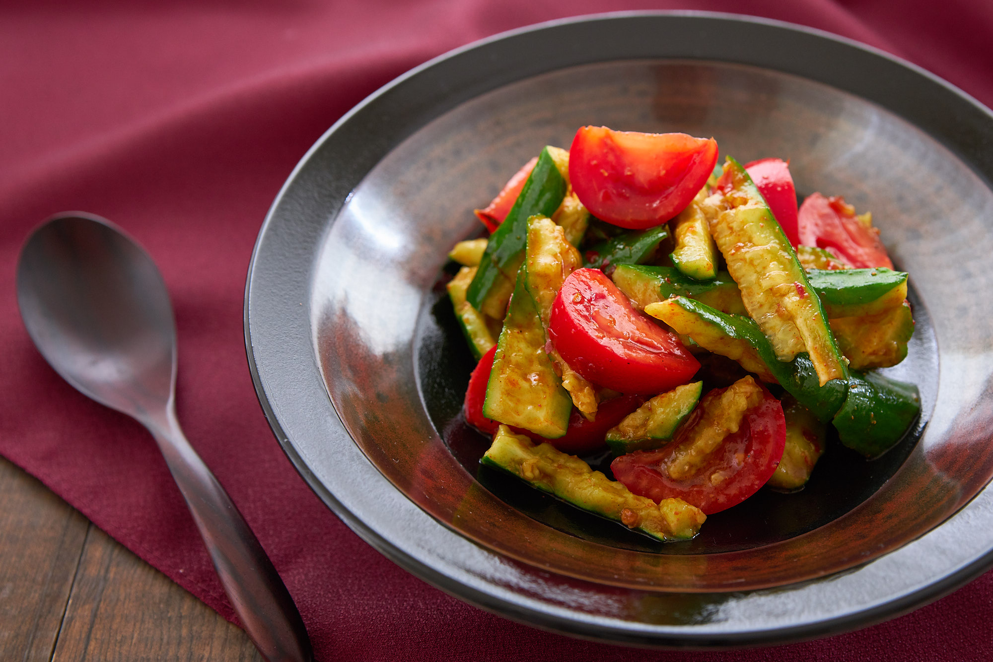 Your Next Side Dish: Spicy Cucumber Tomato Salad