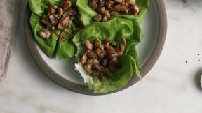 soy chicken lettuce wraps
