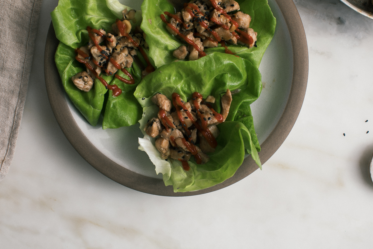 Need Inspiration To Stay Healthy? Eat These Spicy Soy Chicken Lettuce Wraps