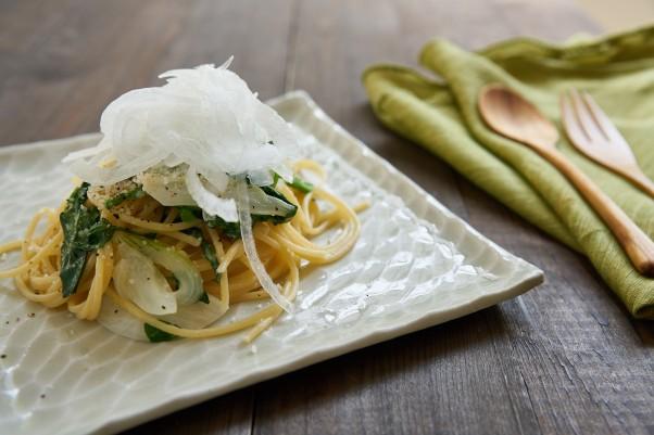 sweet onion spaghetti