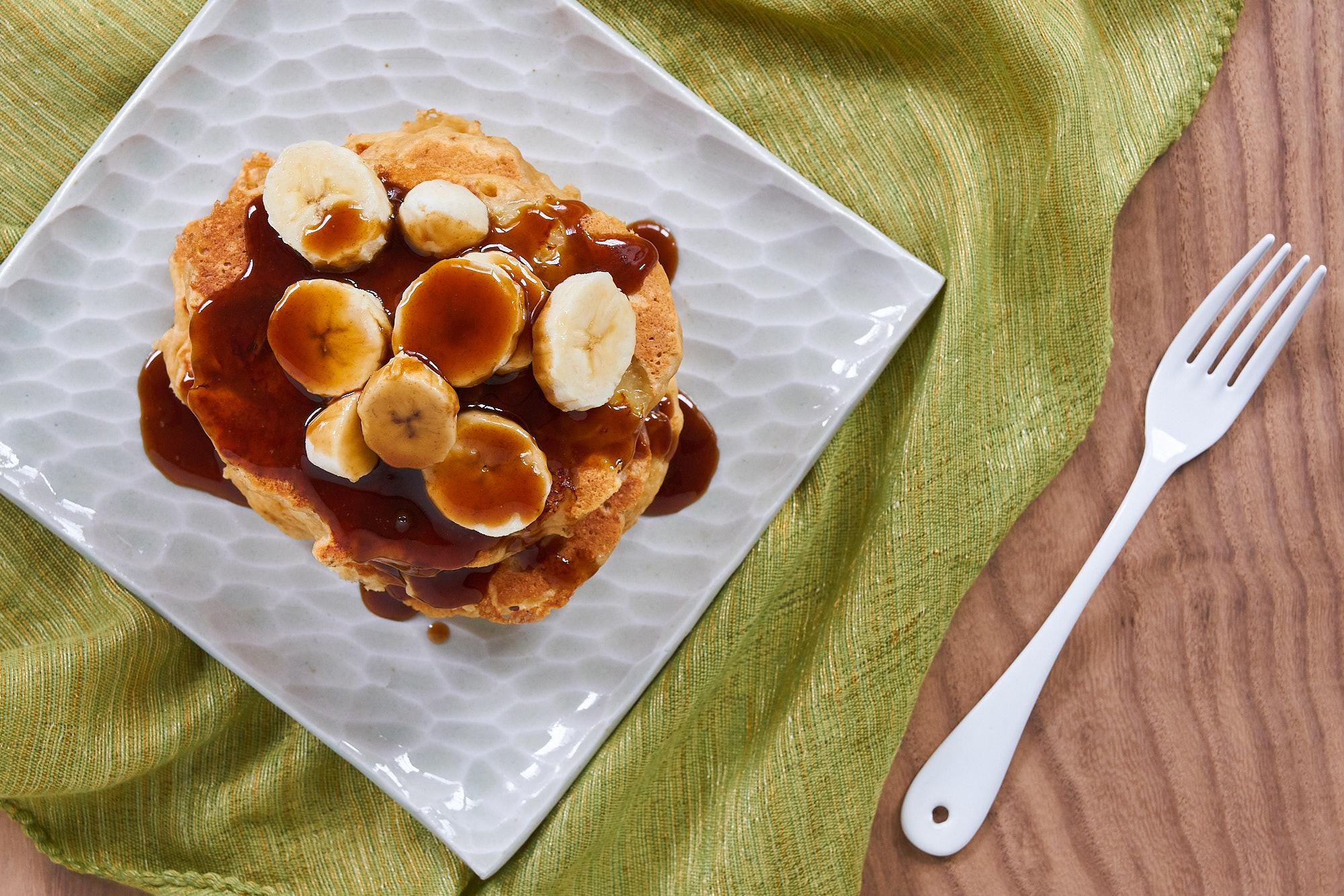 Making Bananas Foster Pancakes