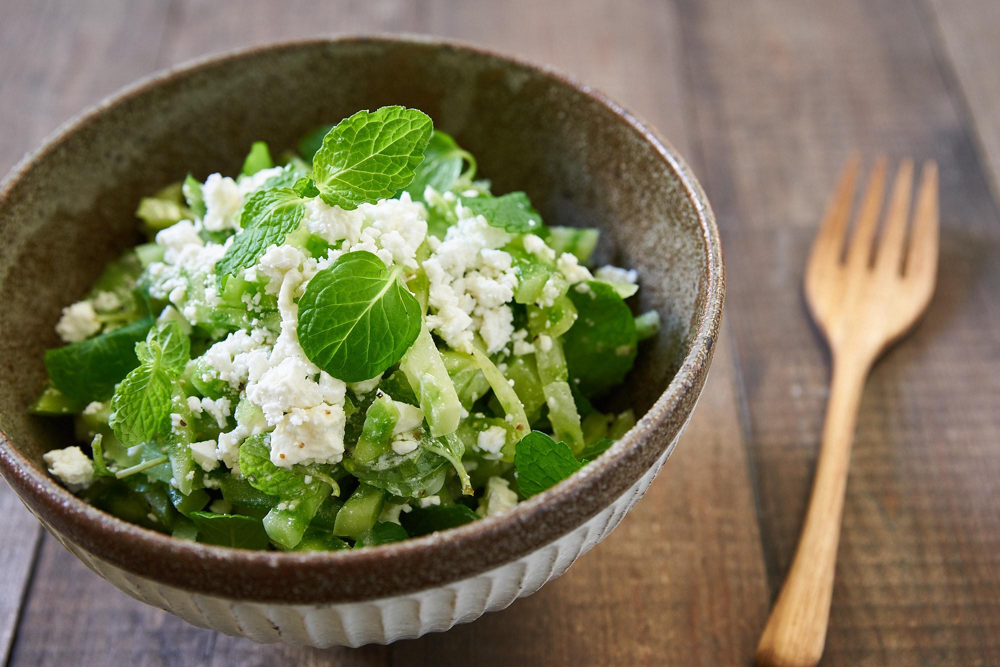 salad show stopper: green tomato mint salad   fresh tastes   pbs food