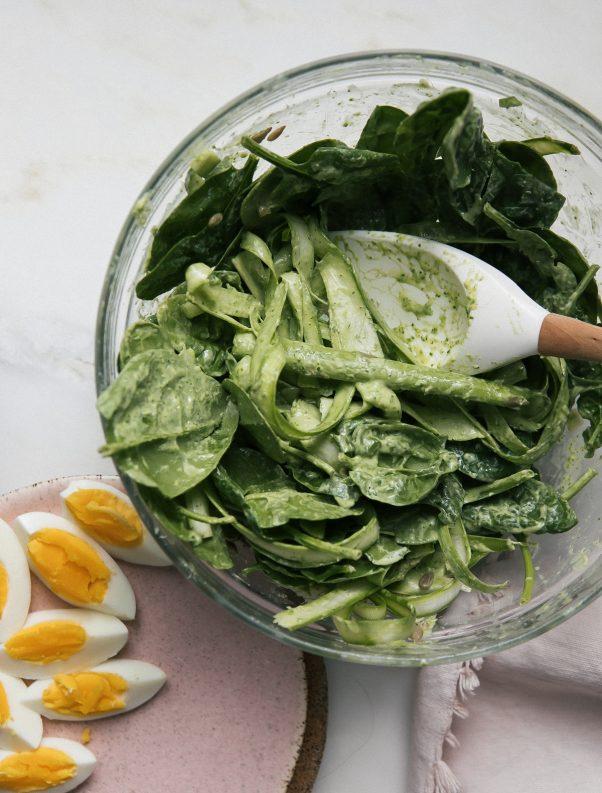 asparagus spinach salad