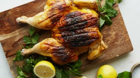 spatchocked saffron chicken
