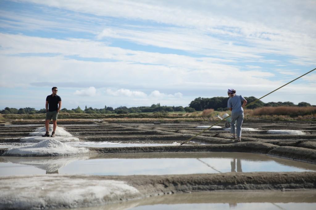 Raking salt in Guerande, France