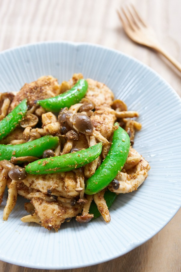 sesame snap pea chicken