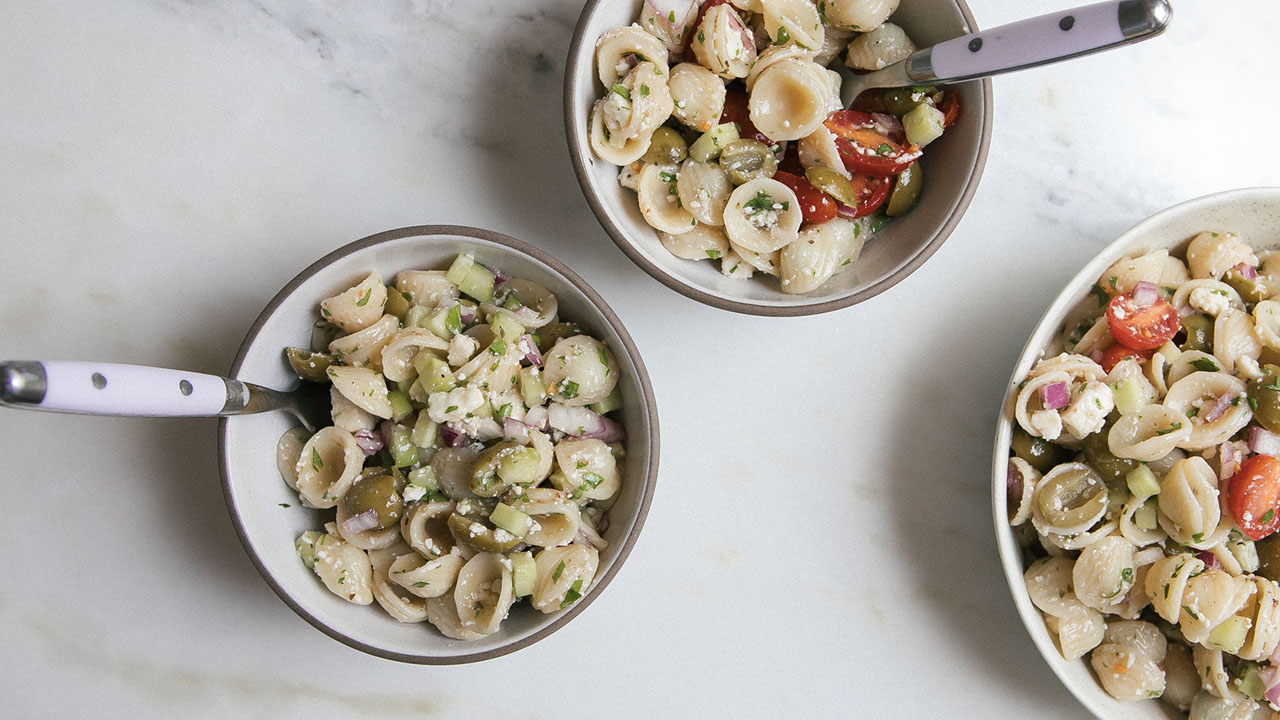 Take a Vacation with Greek Pasta Salad