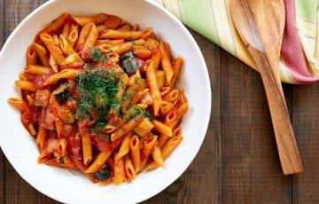 One Pot Tomato Zucchini Penne