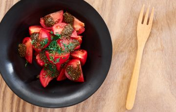 tomatoes with chia ponzu