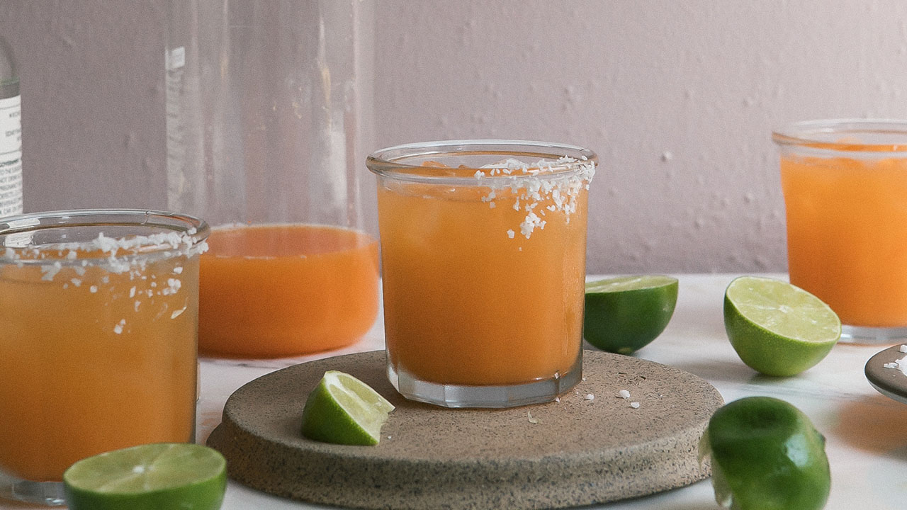 Escape the Heat with Cantaloupe Margaritas