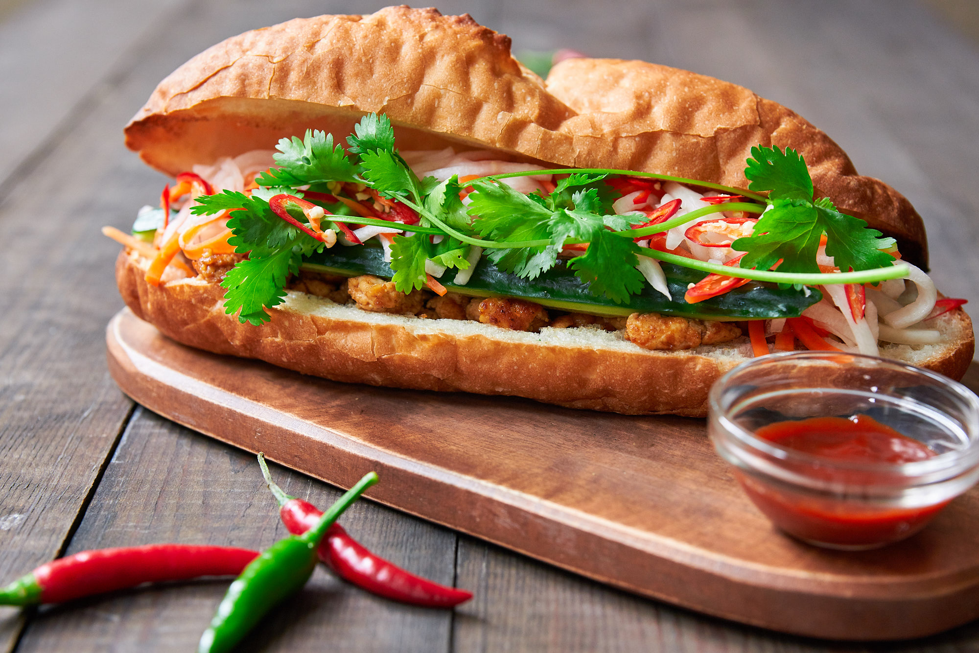 Vibrancy Found in Tofu Banh Mi