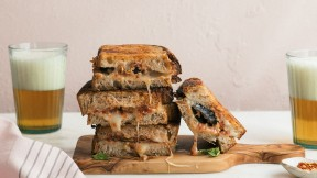 Eggplant Parmesan Grilled Cheese horizontal