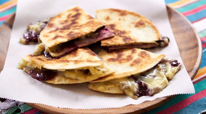 Brie and Blackberry Quesadilla