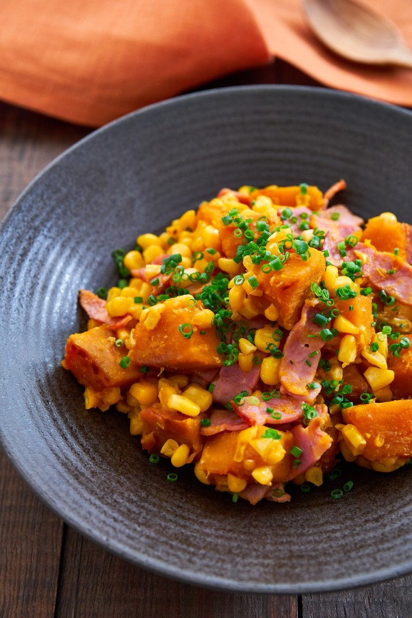 Warm Corn and Kabocha Salad