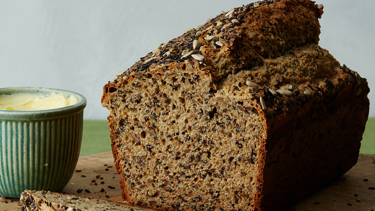 Seeded Savory Quickbread Recipe Pbs Food