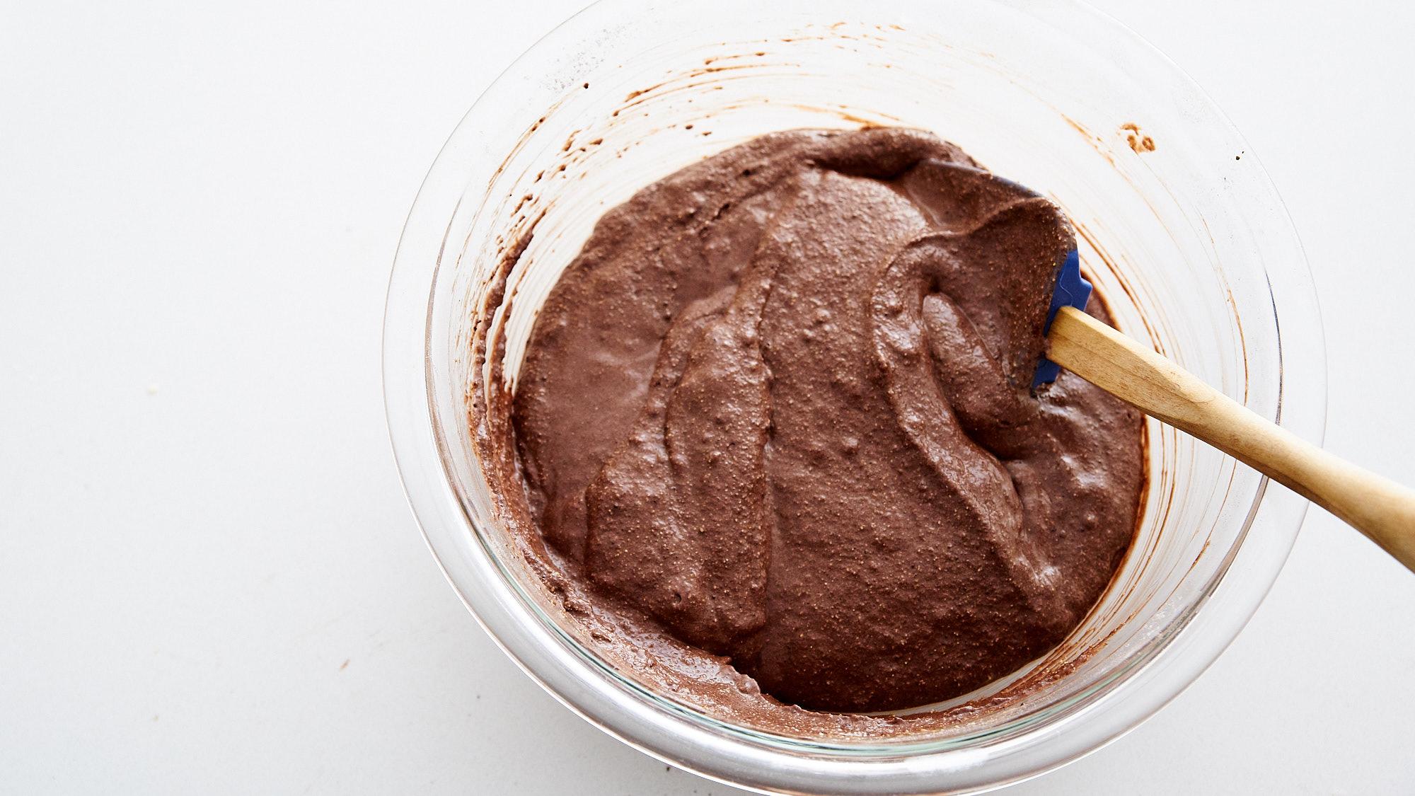 Chocolate Cornbread Muffins
