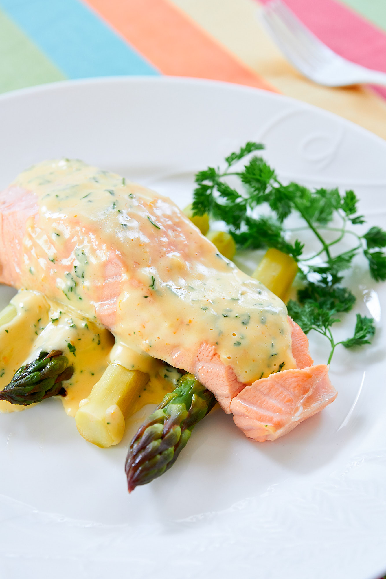 Poached Salmon with Chervil Hollandaise