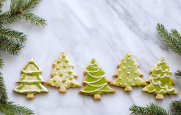 spruce tree shortbread