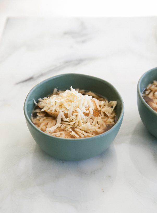 Vegetarian French Onion Mushroom Soup Fresh Tastes Pbs Food