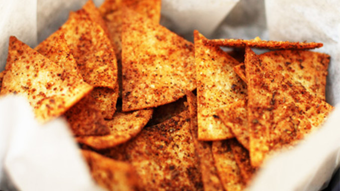 Zesty Baked Tortilla Chips
