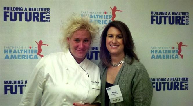 Aviva and Chef Anne Burrell