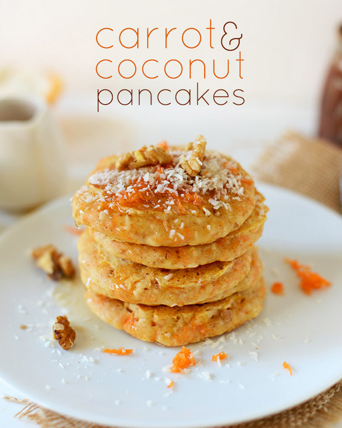 Vegan Carrot and Coconut Pancakes by Minimalist Baker
