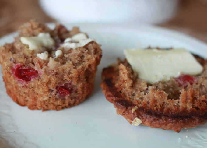 Cranberry Sauce Muffins by Kitchen Treaty