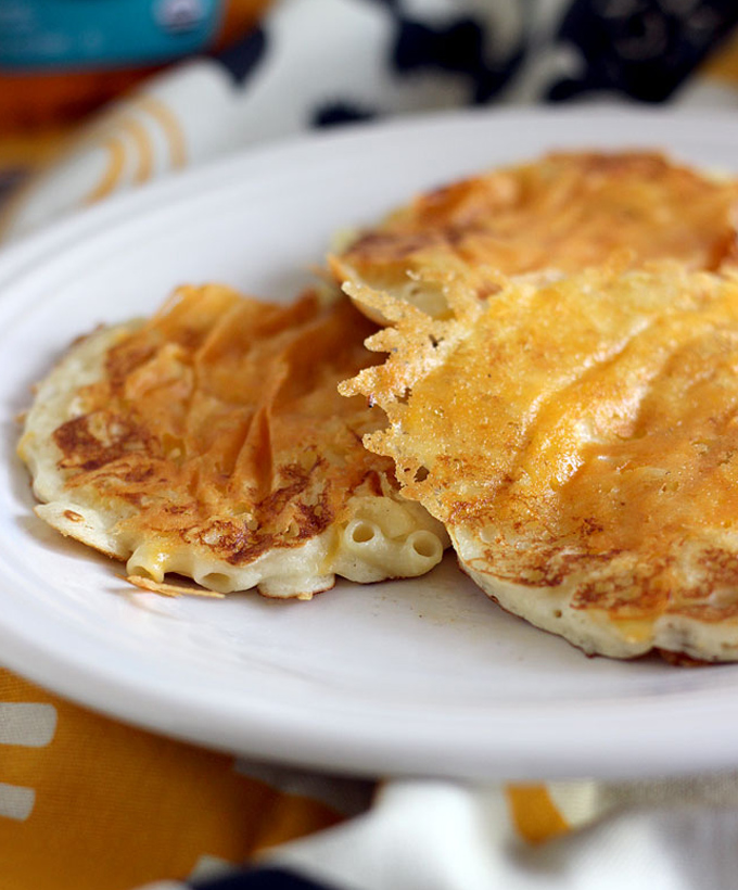 Mac and Cheese Pancakes by The Blonde Buckeye