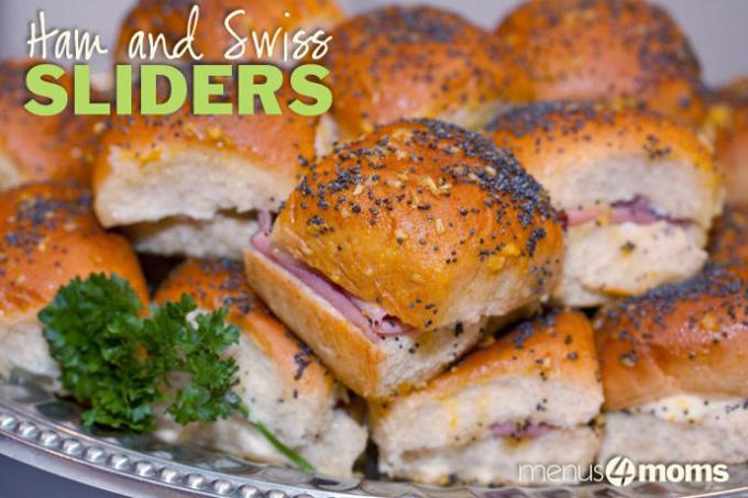 Ham and Swiss Sliders by Menus4moms