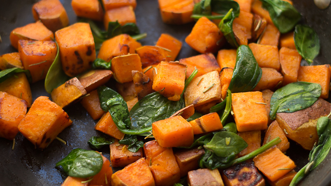 Pan-Roasted Sweet Potatoes with Spinach (1 of 1)-2