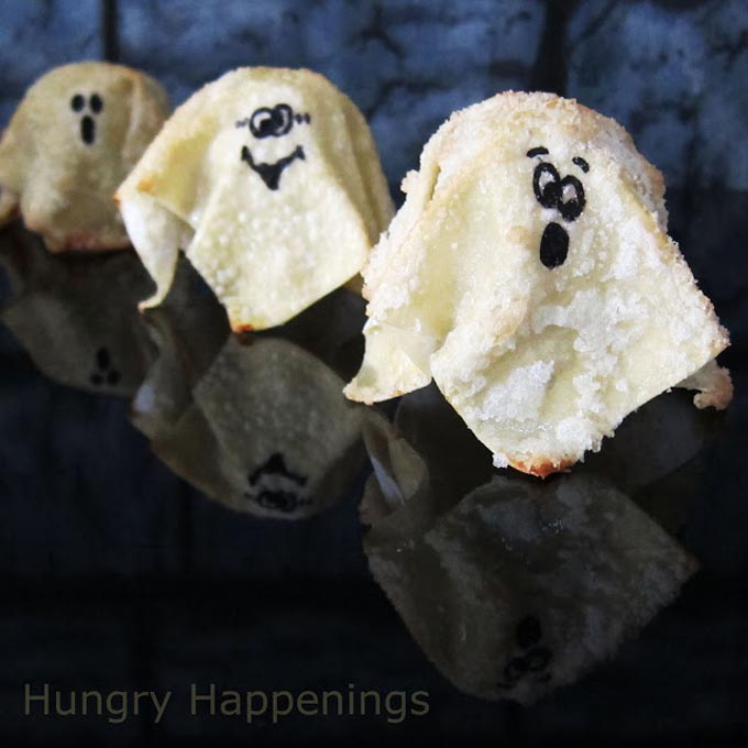 Sweet Ghost Crisps by Hungry Happenings