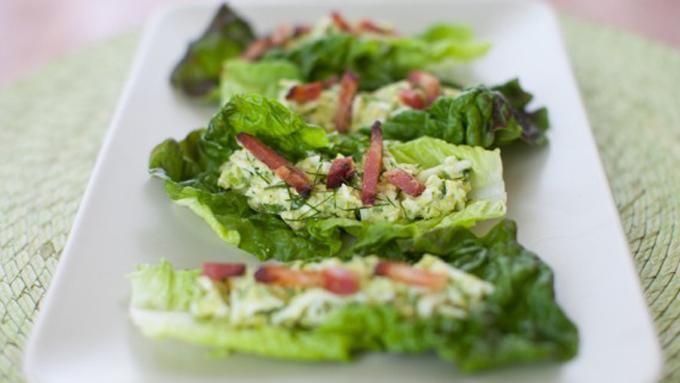 Simple Bites Avocado Egg Salad Lettuce Wraps