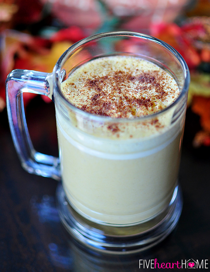 Warm Pumpkin Spice Drink by Five Heart Home