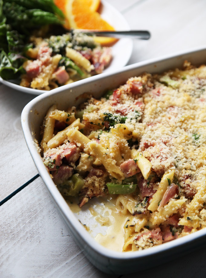 ham-and-broccoli-cheddar-casserole