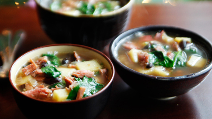 Ham and Sweet Potato Soup by Kitchen Explorers