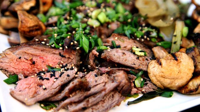 grilled kalbi flank steak recipe pbs food