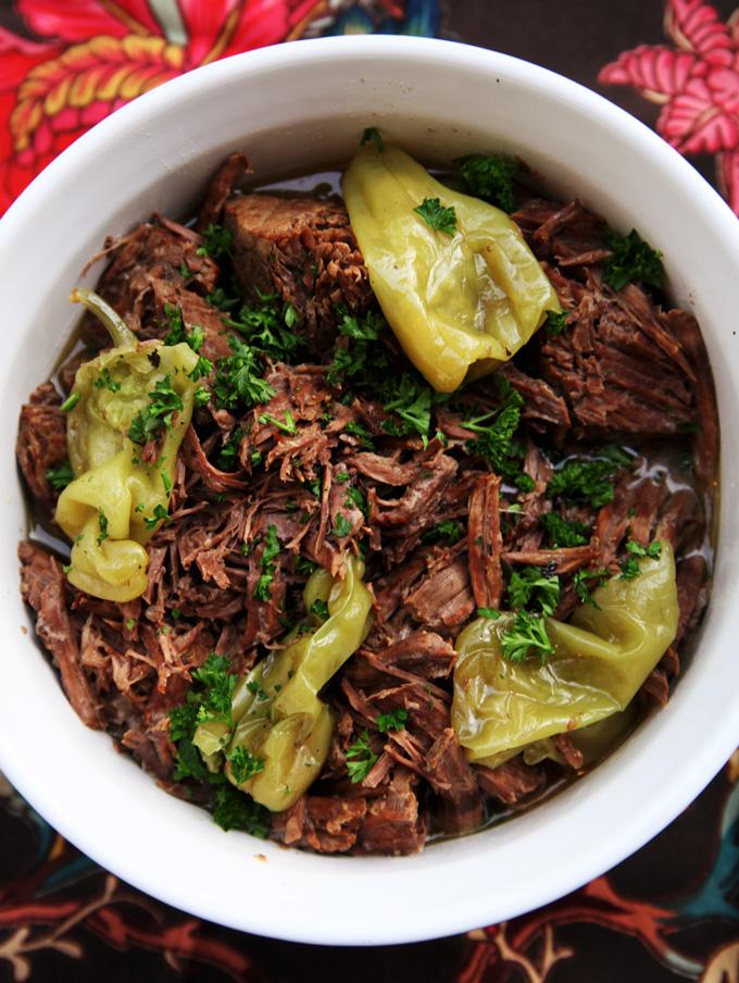 crock pot roast recipe with pepperoncini