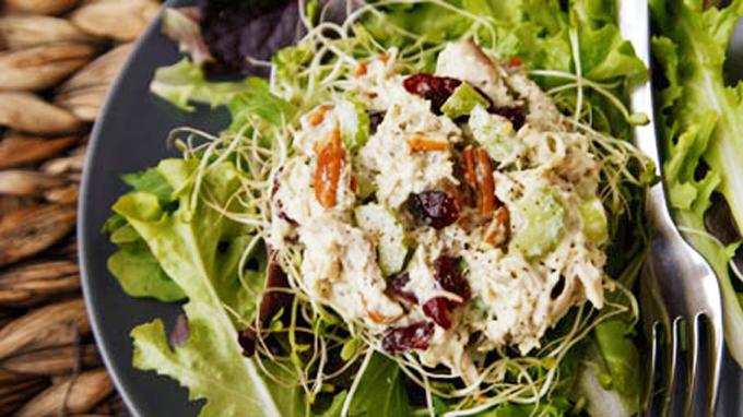 Turkey Cranberry Pesto Salad