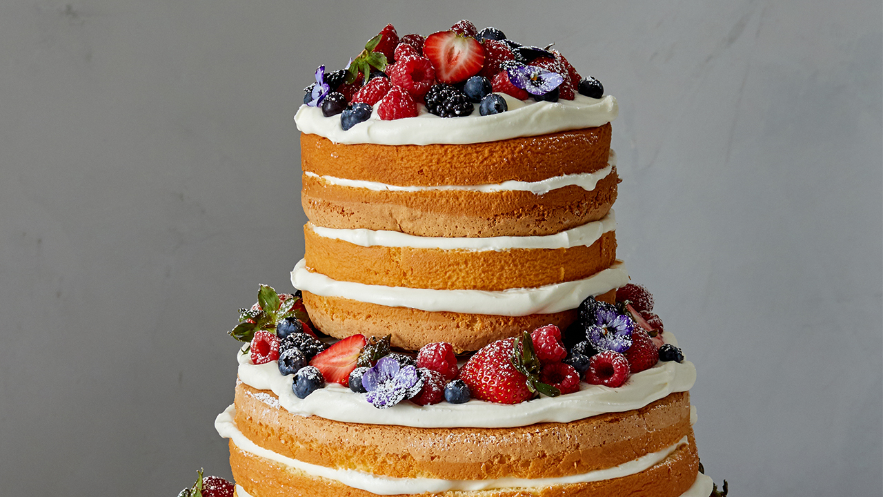 Super Naked Berry Chiffon Cake Recipe Pbs Food Funny Birthday Cards Online Inifodamsfinfo