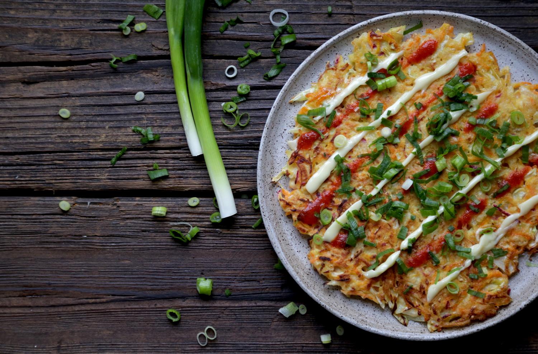 Walter Riesen's Okonomiyaki (Japanese Vegetable Pancake)