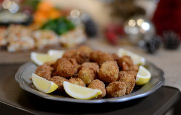 Cod fritters inspired by Lidia's eelpout adventures
