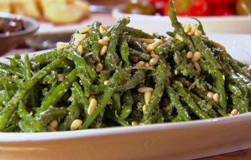 Green Beans with Mint Pesto